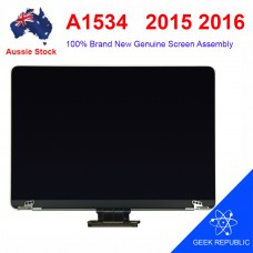 "Grade AAA Genuine Screen Display Assembly for MacBook 12"" A1534 2015 2016 Grey"